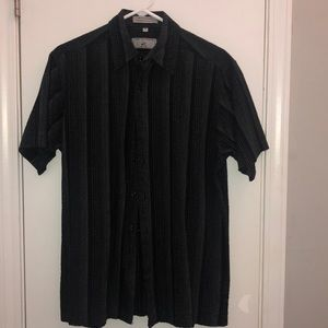 🏵Mens Black Beverly Hills Polo button up SS shirt